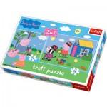 Trefl-34128 2 Puzzles en 1 : Peppa Pig