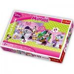 Trefl-34166 2 Puzzles en 1 : Daisy et Minnie