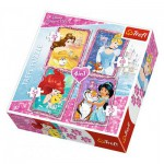Trefl-34256 4 Puzzles - Disney Princesses