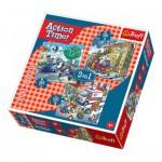 Trefl-34808 3 Puzzles - Les Secours