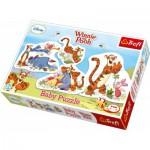 Trefl-36036 4 Puzzles - Winnie l'Ourson