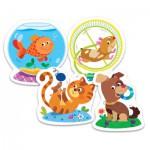 Trefl-36053 Puzzle Baby Classic : Animaux Domestiques