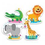 Trefl-36054 Puzzle Baby Classic : Animaux de la Savane
