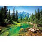 Puzzle  Trefl-37117 Pologne : Rivière des Tatras