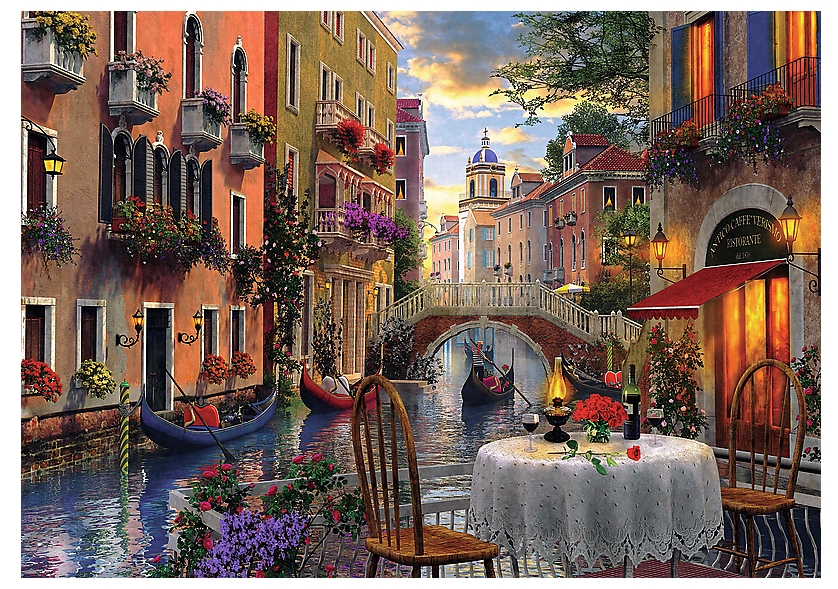 puzzle venise romantique trefl 65003 6000 pi ces puzzles. Black Bedroom Furniture Sets. Home Design Ideas