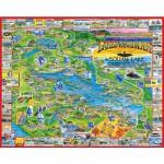 Puzzle  White-Mountain-039 Régions des lacs, New-York, USA