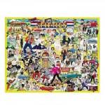 Puzzle  White-Mountain-196 Les célébrités des Fifties