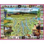 Puzzle  White-Mountain-870 Finger Lakes