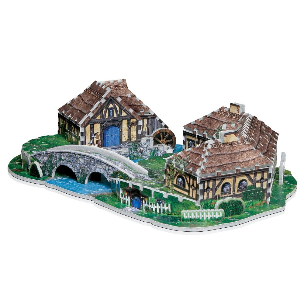 puzzle 3d le seigneur des anneaux hobbitebourg wrebbit 3d 34503 363 pi ces puzzles. Black Bedroom Furniture Sets. Home Design Ideas