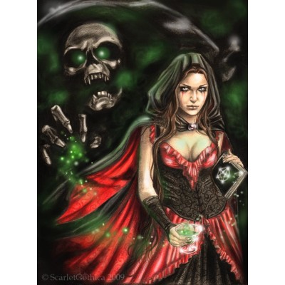 Puzzle Ricordi-50340 Scarlet Gothica - Absinthe