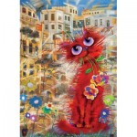 Puzzle  Art-Puzzle-4582 Red Cat