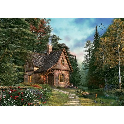 Puzzle Art-Puzzle-4621 Woodland Cottage