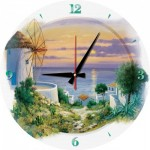 Art-Puzzle-5005 Puzzle Horloge - In the Evening in Aegean (Pile non fournie)