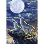Puzzle  Art-Puzzle-5217 Full Moon Wolves