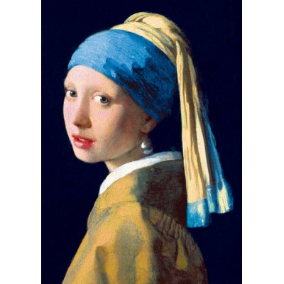 Puzzle Art-by-Bluebird-60065 Vermeer- Girl with a Pearl Earring, 1665