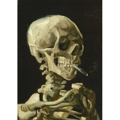Puzzle Art-by-Bluebird-60134 Vincent Van Gogh - Head of a Skeleton with a Burning Cigarette, 1886