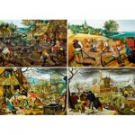 Puzzle  Art-by-Bluebird-Puzzle-60020 Pieter Brueghel the Younger - The Four Seasons