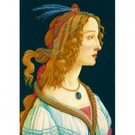 Puzzle  Art-by-Bluebird-Puzzle-60023 Sandro Botticelli - Idealized Portrait of a Lady, 1480