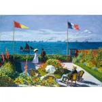 Puzzle  Art-by-Bluebird-Puzzle-60042 Claude Monet - Garden at Sainte-Adresse, 1867