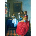 Puzzle  Art-by-Bluebird-Puzzle-60067 Vermeer- The Girl with the Wine Glass, 1659