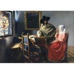 Puzzle  Art-by-Bluebird-Puzzle-60133 Johannes Vermeer - The Glass of Wine, 1661