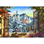 Puzzle  Bluebird-Puzzle-70122 Mountain Castle