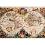 Puzzle  Bluebird-Puzzle-70246-P Antique World Map