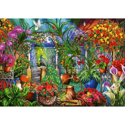 Puzzle Bluebird-Puzzle-70248-P Tropical Green House