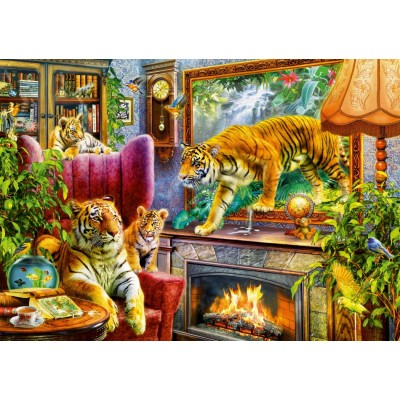 Puzzle Bluebird-Puzzle-70310-P Tigers Coming to Life