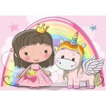 Puzzle  Bluebird-Puzzle-70353 The Unicorn and The Princess