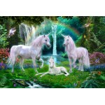 Puzzle  Bluebird-Puzzle-70386 Rainbow Unicorn Family