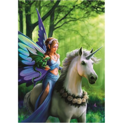 Puzzle Bluebird-Puzzle-70440 Anne Stokes - Realm of Enchantment
