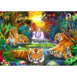 Puzzle   Family at the Jungle Pool