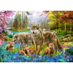Puzzle   Spring Wolf Family