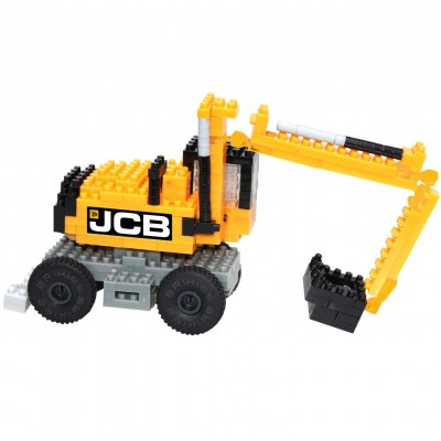 Brixies-38449146 Nano Puzzle 3D - Tractopelle JCB