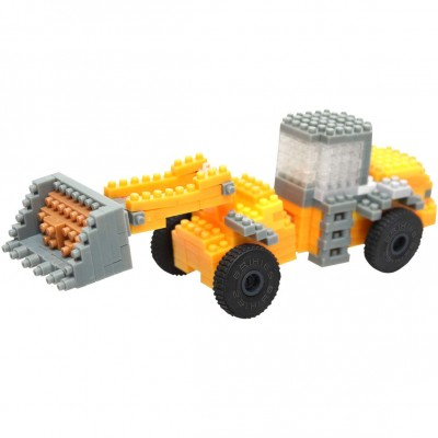 Brixies-38449147 Nano Puzzle 3D - Tractopelle JCB