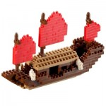 Brixies-58117 Nano Puzzle 3D - Drakar Viking (Level 3)