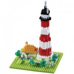 Brixies-58206 Nano Puzzle 3D - Phare (Level 3)