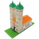 Brixies-58252 Nano Puzzle 3D - Frauenkirche (Level 3)