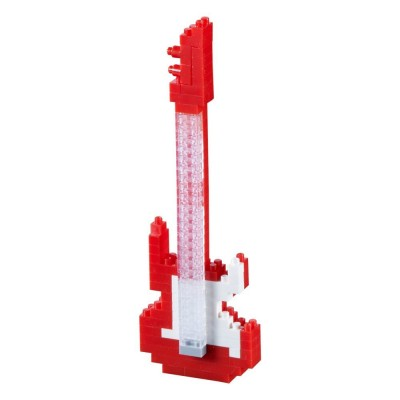 Brixies-58620 Nano Puzzle 3D - Guitare Electrique (Level 2)
