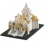 Brixies-58651 Nano Puzzle 3D - Basilique Saint Pierre de Rome (Level 4)