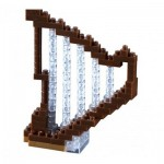 Brixies-58670 Nano Puzzle 3D - Harpe (Level 1)