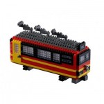 Brixies-58719 Nano Puzzle 3D - Train Suisse (Level 3)