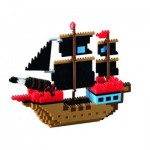 Brixies-58788 Nano Puzzle 3D - Bateau de Pirate (Level 4)