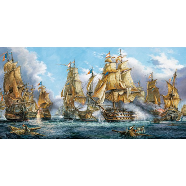 puzzle bataille navale castorland 400102 4000 pi ces puzzles bateaux planet 39 puzzles. Black Bedroom Furniture Sets. Home Design Ideas