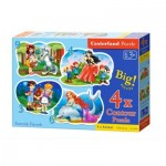 Castorland-005062 4 Puzzles - Fairytales Friends