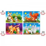 Puzzle  Castorland-041046 Pièces XXL - Lovely Animals