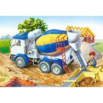 Puzzle  Castorland-06618 Chantier de construction