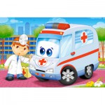 Castorland-08521-BP5 Mini Puzzle - Ambulance