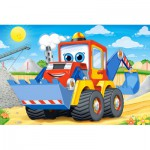 Castorland-08521-BP6 Mini Puzzle - Tractopelle